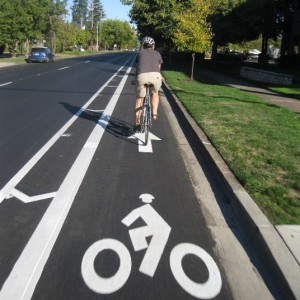Bike lanes with a painted buffer between traffic increase cyclist comfort